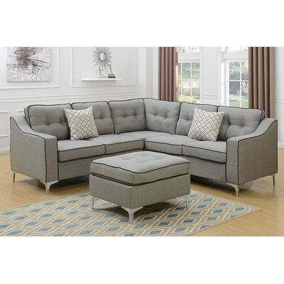 Almazan Modular Sectional Upholstery: Light Gray