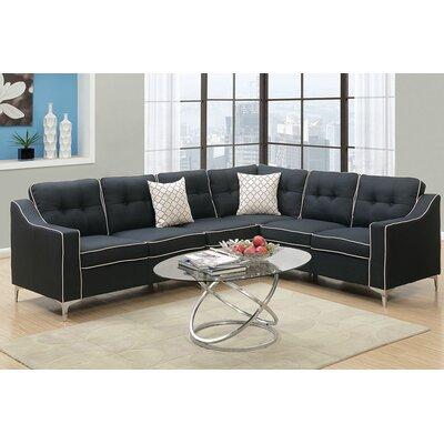 Alongi Sectional Upholstery: Black