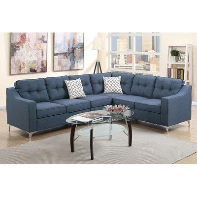 Alongi Sectional Upholstery: Navy