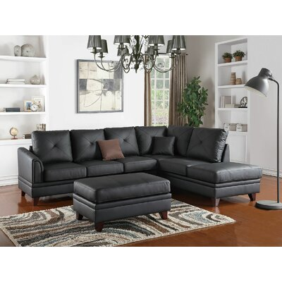 Bresnahan Sectional Upholstery: Black