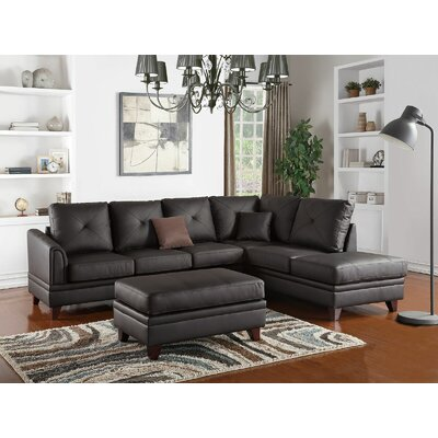 Bresnahan Sectional Upholstery: Brown