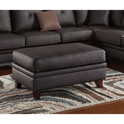 Capobianco Leather Ottoman Upholstery: Brown