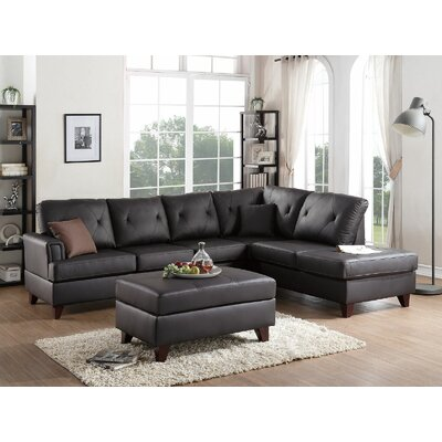 Ayotte Sectional Upholstery: Brown