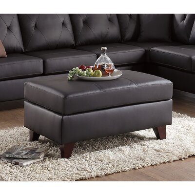 Frisby Ottoman Upholstery: Brown