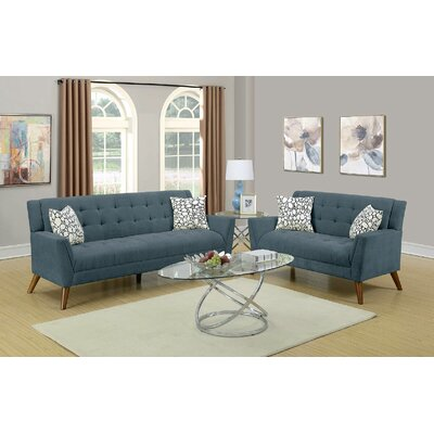 Upper Shockerwick 2 Piece Living Room Set Upholstery: Slate