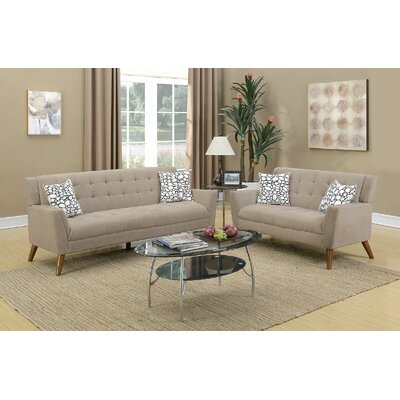 Upper Shockerwick 2 Piece Living Room Set Upholstery: Sand