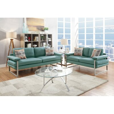 Bharti 2 Piece Living Room Set Upholstery: Laguna