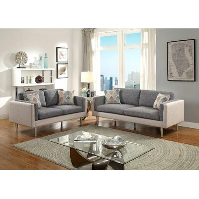 Upper Stanton Sofa and Loveseat Set Upholstery: Sand