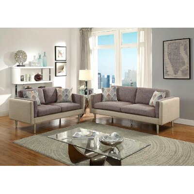 George Oliver GOLV2625 Upper Stanton Sofa and Loveseat Set Upholstery