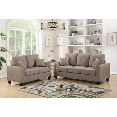 Champine 2 Piece Living Room Set Upholstery: Coffee
