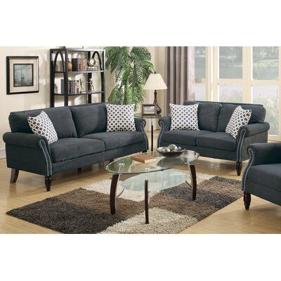 Haldeman 2 Piece Living Room Set Color: Slate