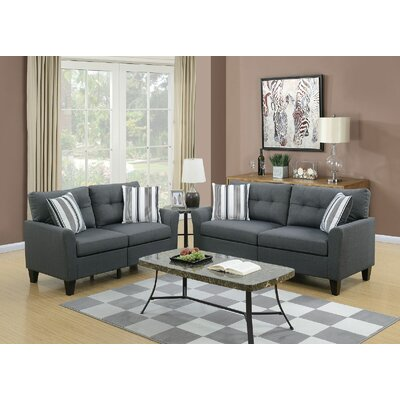 Channahon 2 Piece Living Room Set Upholstery: Gray