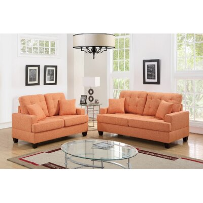 Araromi Sofa and Loveseat Set Upholstery: Citrus