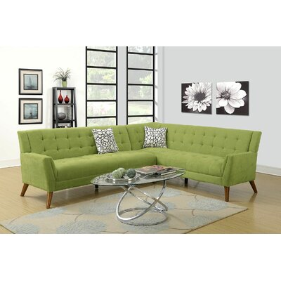 Engelman Sectional Upholstery: Green