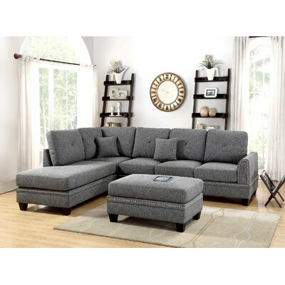 Chapin Sectional Upholstery: Gray/Black