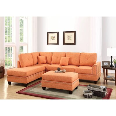 Chapin Reversible Sectional Upholstery: Citrus