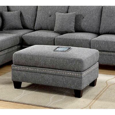 Chapin Cocktail Ottoman Upholstery: Gray/Black