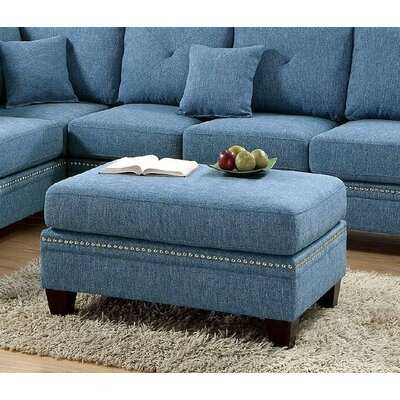 Chapin Cocktail Ottoman Upholstery: Blue