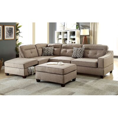 Charbonneau Reversible Sectional Upholstery: Mocha/Brown