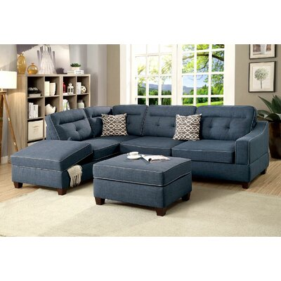 Charbonneau Sectional Upholstery: Navy/Blue