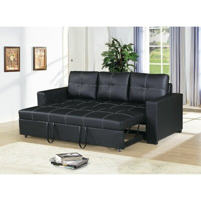 Clauderson Convertible Sofa Upholstery: Black