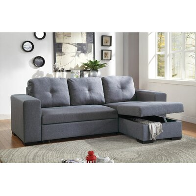 Tilman Leather Convertible Sofa Upholstery: Blue/Gray