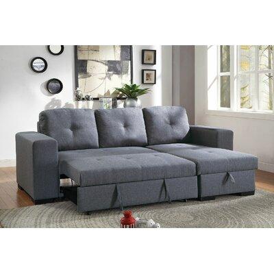 Tilman Reclining Sofa Upholstery: Blue/Gray