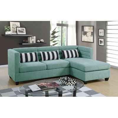 Enloe Reversible Sectional Upholstery: Blue