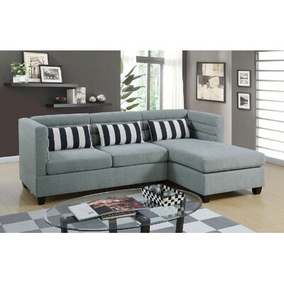 Enloe Reversible Sectional Upholstery: Gray