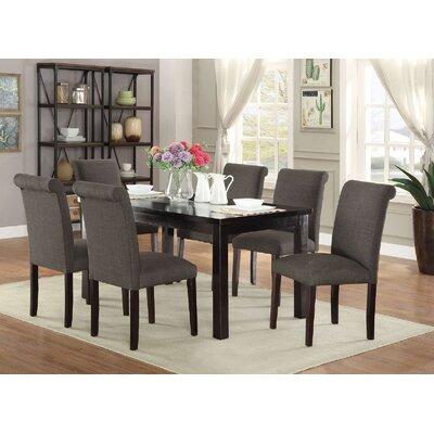 Abbot Bridge 7 Piece Dining Set Chair Color: Ash Black