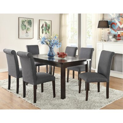 Abbot Bridge 7 Piece Dining Set Chair Color: Blue Gray