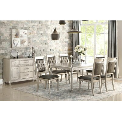 Blumer Silver 7 Piece Dining Set