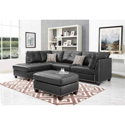 Larchwood Sectional with Ottoman Orientation: Left Hand Facing