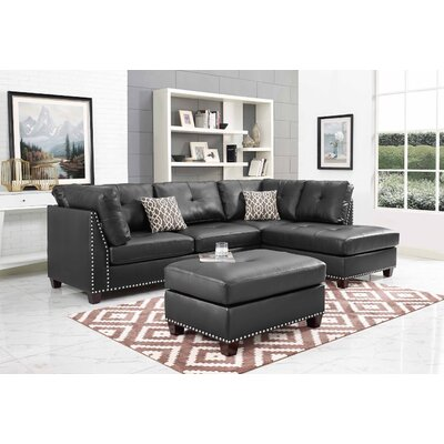 Larchwood Sectional with Ottoman Orientation: Right Hand Facing