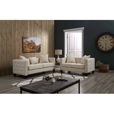 Connelly 2 Piece Living Room Set� Upholstery: Beige