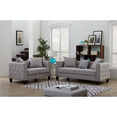 Connelly 2 Piece Living Room Set� Upholstery: Taupe Gray