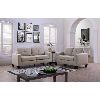 Payson 2 Piece Linen Living Room Set� Upholstery: Sand Tan