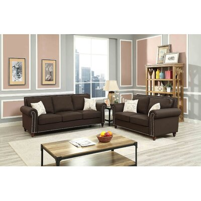 Connelly 2 Piece Living Room Set� Upholstery: Chocolate