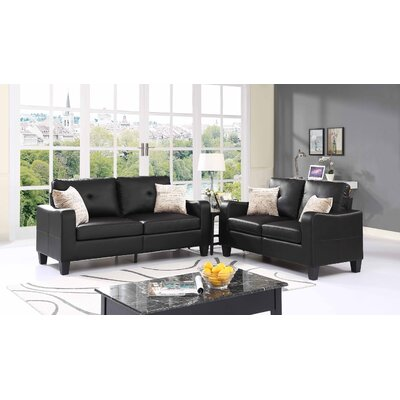 Payson 2 Piece Living Room Set� Upholstery: Espresso Black