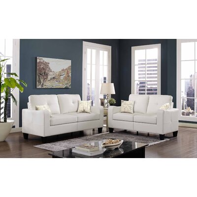 Payson 2 Piece Living Room Set� Upholstery: White