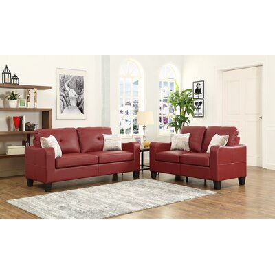 Payson 2 Piece Living Room Set� Upholstery: Red