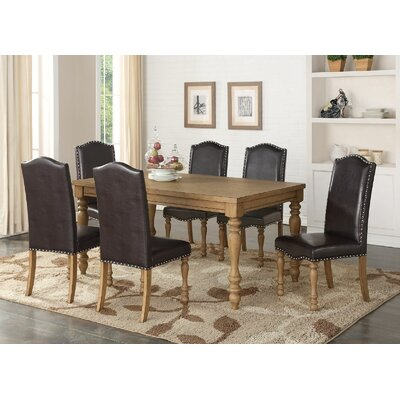 Keitt 7 Piece Dining Set Chair Color: Espresso