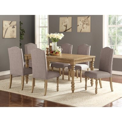 Keitt 7 Piece Dining Set Chair Color: Taupe Gray