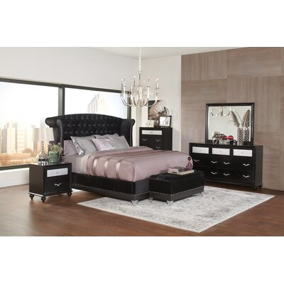 Eugene Upholstered Panel Bed Size: California King
