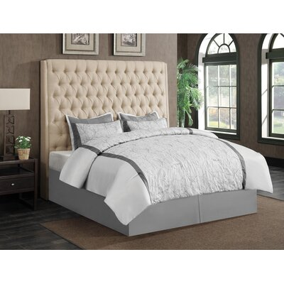 Leilani Upholstered Panel Bed Size: Queen, Color: Cream