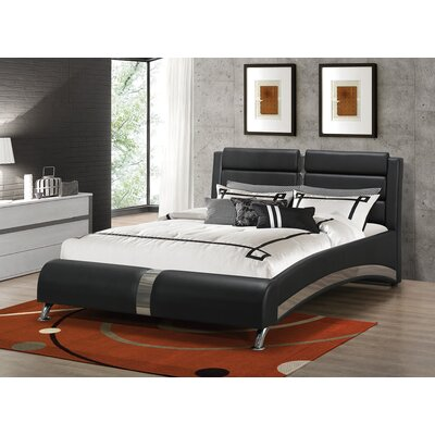 Kratz Upholstered Platform Bed Size: Queen, Color: Black