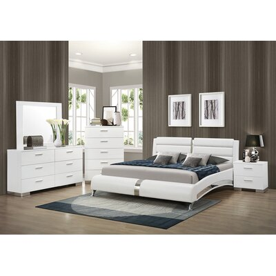 Kratz Upholstered Platform Bed Size: Queen, Color: White