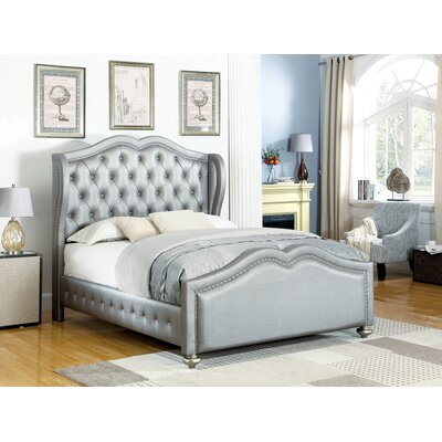 Kulikowski Upholstered Panel Bed Size: California King, Color: Metallic