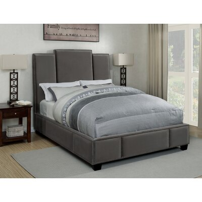 Kopec Upholstered Panel Bed Size: Queen, Color: Gray