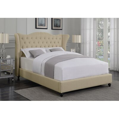 Greig Upholstered Panel Bed Size: California King, Color: Beige
